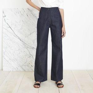 Apiece Apart high waist rise flare wide leg jeans